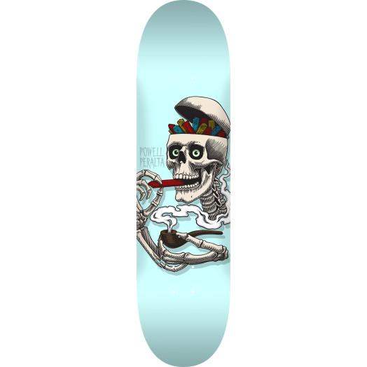 Powell Peralta Curb Skelly Blem Skateboard Deck Blue - 8 x 31.45
