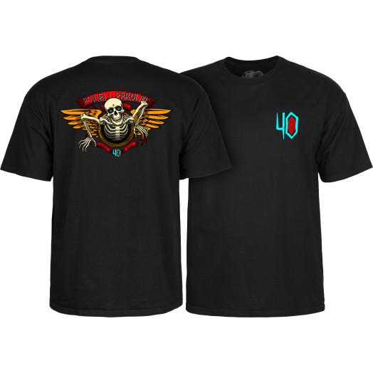 Powell Peralta 40th Anniversary Winged Ripper T-shirt Black