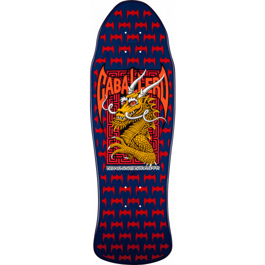 Powell Peralta Caballero Street Skateboard Deck Navy/Red - 9.625 x 29.75