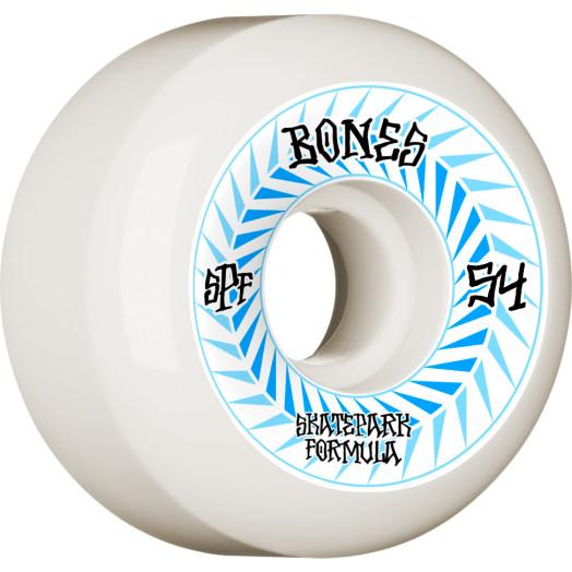 BONES WHEELS SPF Skateboard Wheels Spines 54mm P5 Sidecut 84B 4pk White