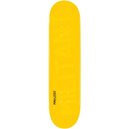 Mini Logo Militant Skateboard Deck 181 Yellow - 8.5 x 33.5