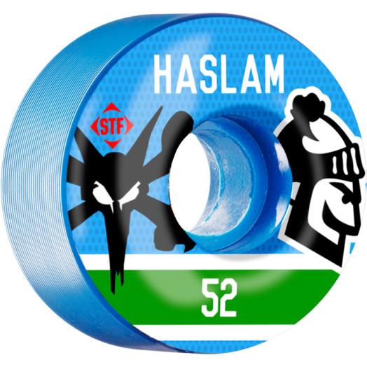 BONES WHEELS STF Haslam Pastime 52mm wheels 4pk Blue