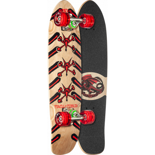 Powell Peralta Sidewalk Surfer Rat Bones Natural Cruiser Complete Skateboard - 7.75 x 27.20 WB 14.0