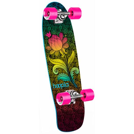 hoopla cruiser Paisley Flower Complete Skateboard - 8 x 28