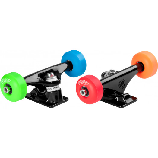 """Mini Logo Truck Assembly - 8.38"""" Black - ML Bearings - 52mm 101a Assorted Color Wheels"""