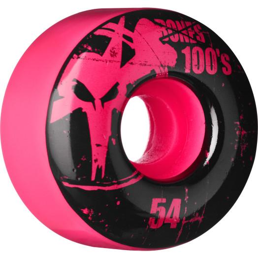 BONES WHEELS 100 Slims 54mm - Pink (4 pack)