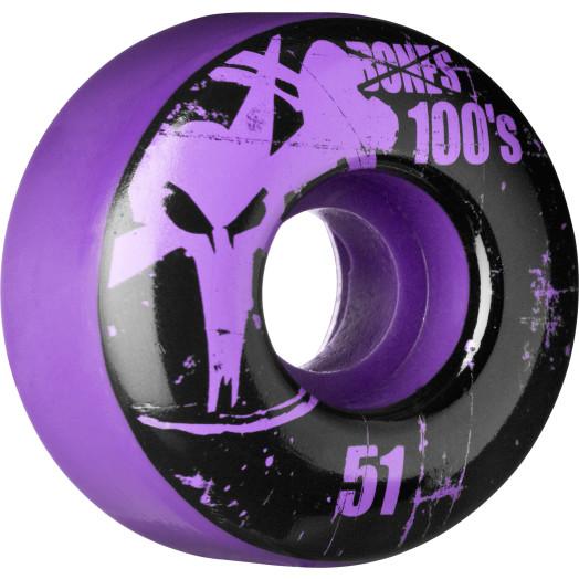 BONES WHEELS 100 Slims 51mm - Purple (4 pack)