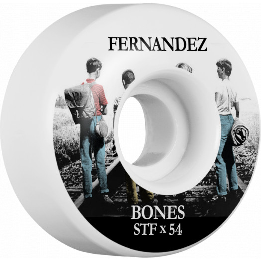 BONES WHEELS STF Pro Fernandez Con Amigos Skateboard Wheels V1 54mm 103A 4pk