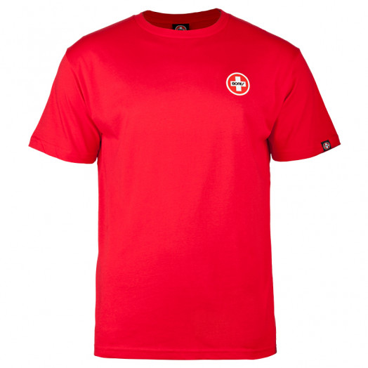 Bones® Bearings Small Swiss Logo T-Shirt - Red