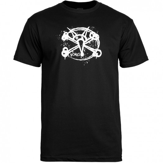 BONES WHEELS Oh Gee T-shirt - Black