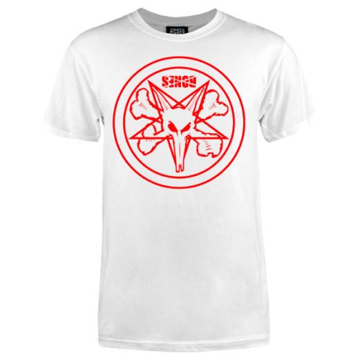 BONES WHEELS Pentagram T-shirt - White