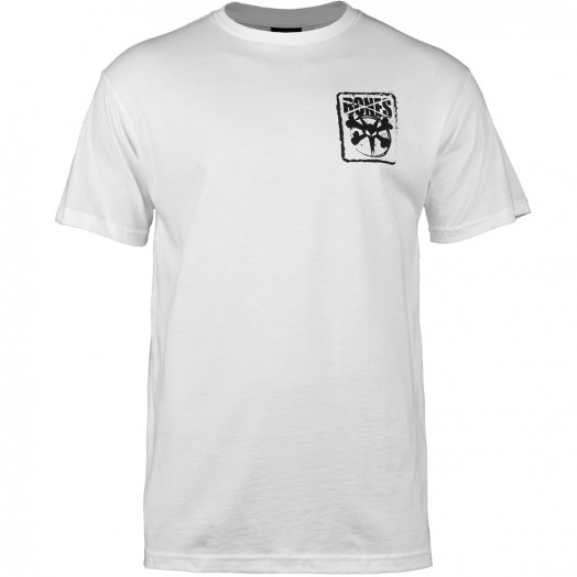BONES WHEELS Pocket Logo T-shirt - White