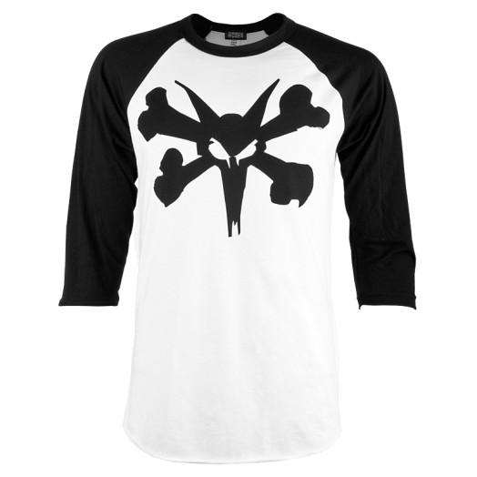 BONES WHEELS Bold Type 3/4 Sleeve Raglan - Black/White