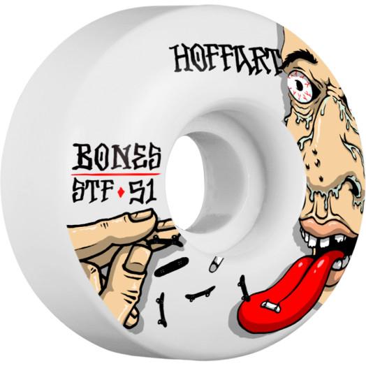 BONES WHEELS STF Pro Hoffart Addicted Skateboard Wheels V2 Locks 51mm 4pk