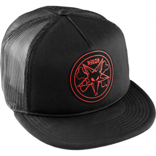 BONES WHEELS Pentagram Trucker Cap - Black