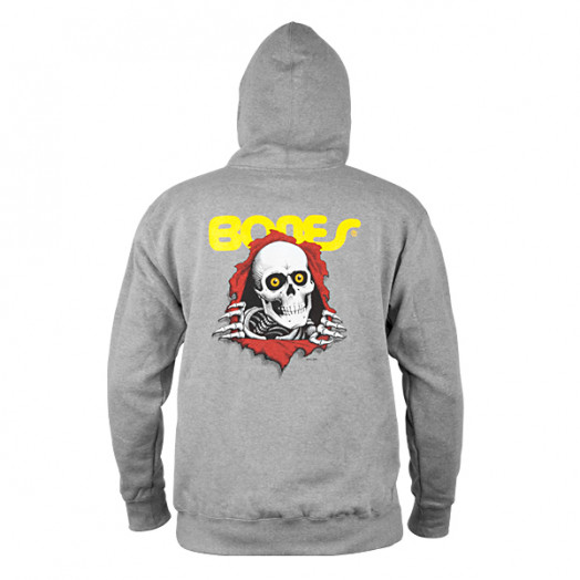 Powell Peralta Ripper Hooded Pullover - Gray