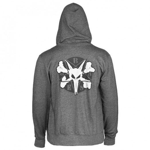 BONES WHEELS Pentagram II Hooded Sweatshirt - Charcoal