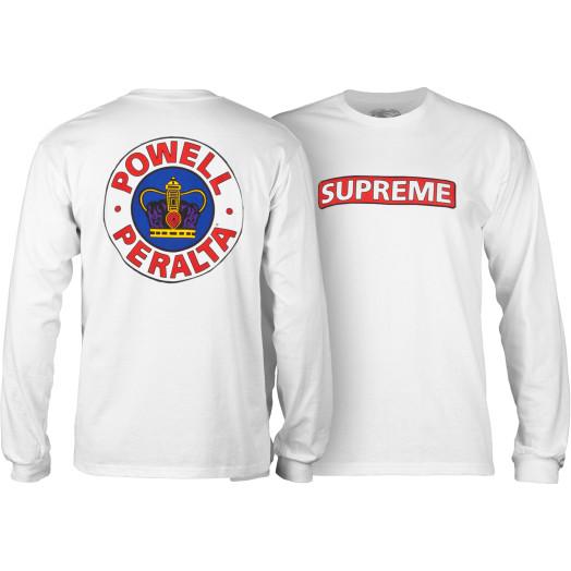Powell Peralta Supreme L/S Shirt White