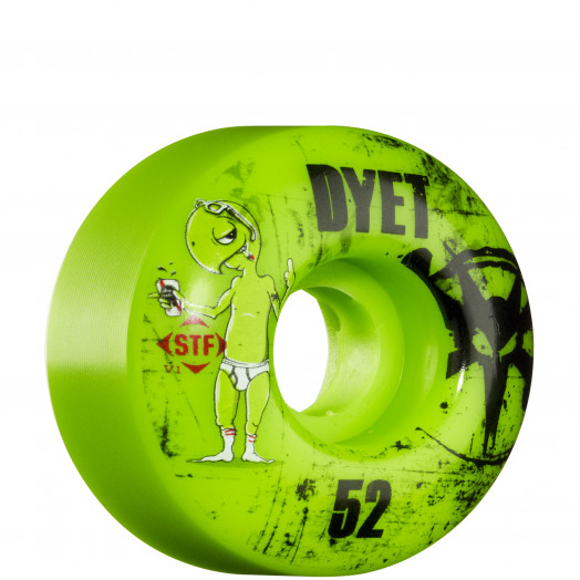 BONES WHEELS STF Pro Dyet Whities 52mm - Green (4 pack)