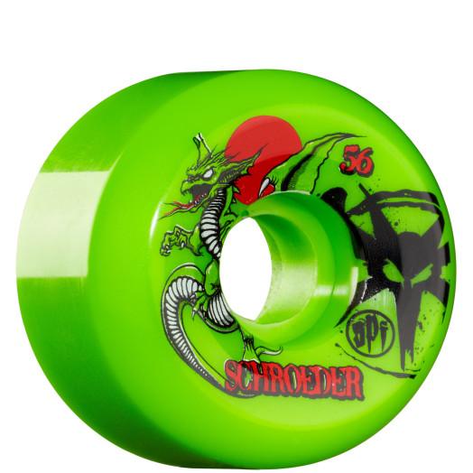 BONES WHEELS SPF Pro Schroeder Dragon 56mm - Green (4 pack)