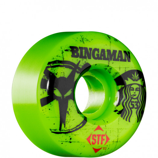 BONES WHEELS STF Pro Bingaman Tea 53mm - Green (4 pack)