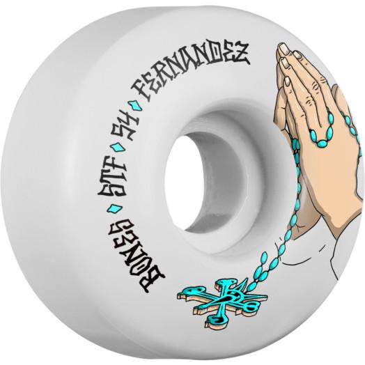 BONES WHEELS STF Pro Fernandez Prayer 54x32 V1 Skateboard Wheels 83B 4pk