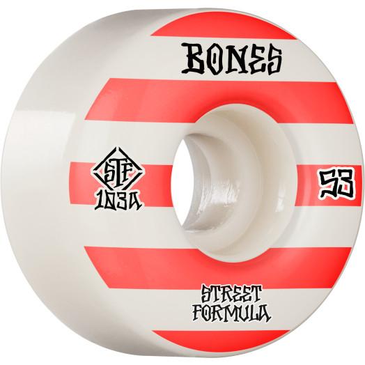 BONES WHEELS STF Skateboard Wheels Patterns 53 V4 Wide 103A 4pk