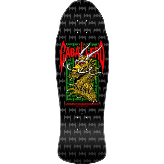 Powell Peralta Pro Steve Caballero Street Blem Skateboard Deck Black/Silver - 9.625 x 29.75