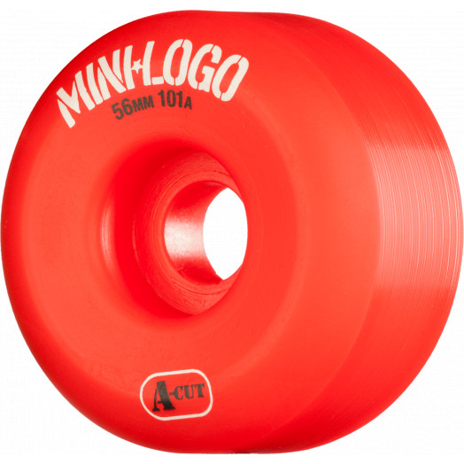 Mini Logo Skateboard Wheels A-cut 56mm 101A Red 4pk