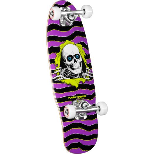 Powell Peralta Mini Ripper 3 Complete Skateboard Purple - 7.5 x 24
