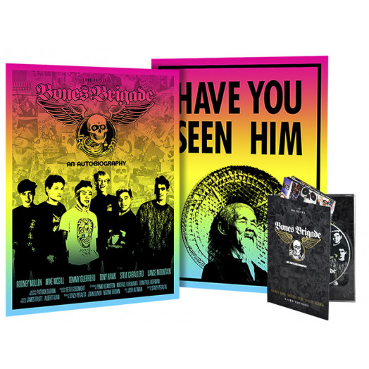 BONES BRIGADE: An Autobiography Blu-Ray/DVD/Colby Poster + Animal Chin Colby Poster Combo