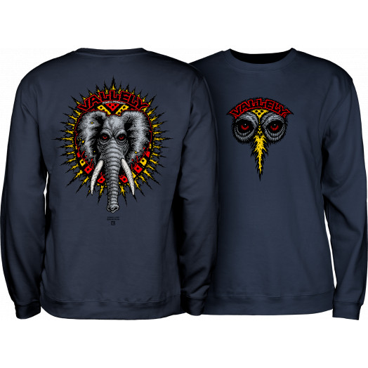 Powell Peralta Mike Vallely Elephant Crew Sweat Shirt Mid Weight Navy