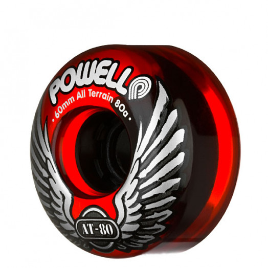 Powell Classic AT-80 60/80a Clear Red Wheels(each)