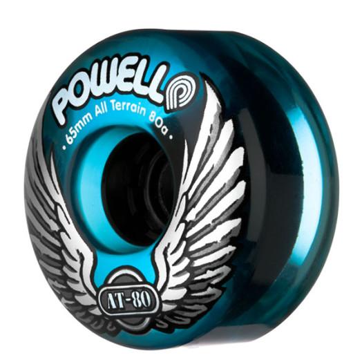 Powell Classic AT-80 65/80a Clear Blue Wheels(each)