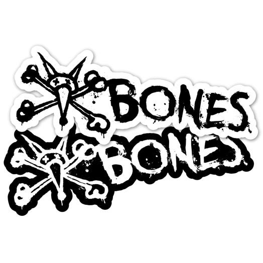 "BONES WHEELS Vato Text 6"" single sticker"