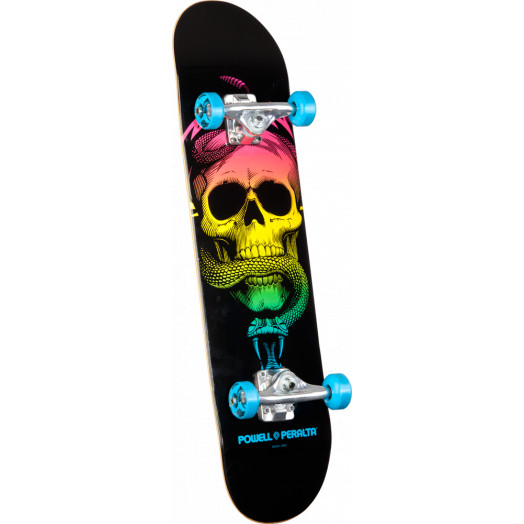 Powell Peralta Skull and Snake Complete Skateboard Blue - 7.625 x 31.625