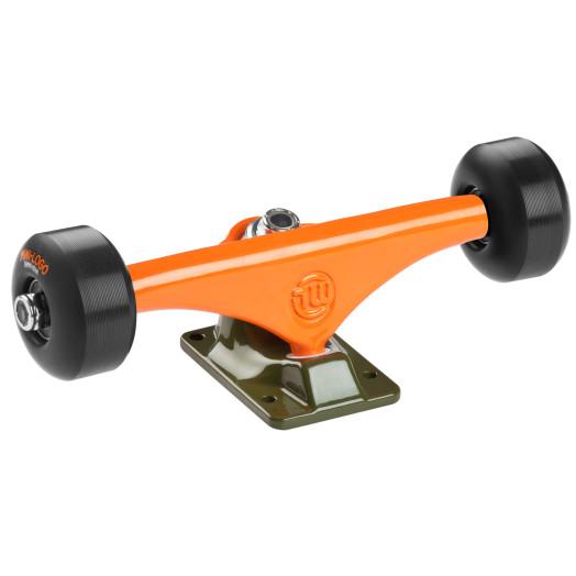 "Mini Logo Truck Assembly - 8.38"" Split Green/Orange - ML Bearings - 53mm 101a Black Wheels"