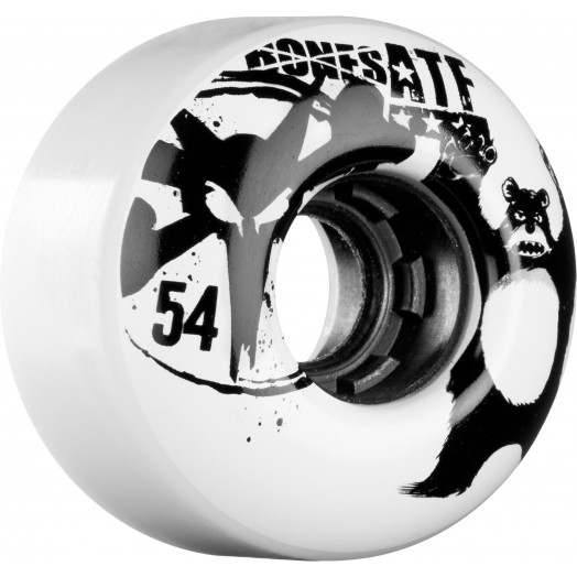 BONES WHEELS ATF Da Bear 54mm White 4pk