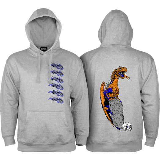 BONES WHEELS Cody Lockwood Dragon Sweatshirt Carbon Grey