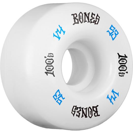 BONES WHEELS 100's #12 OG Formula 53x34 V4 Skateboard Wheels 100A 4pk