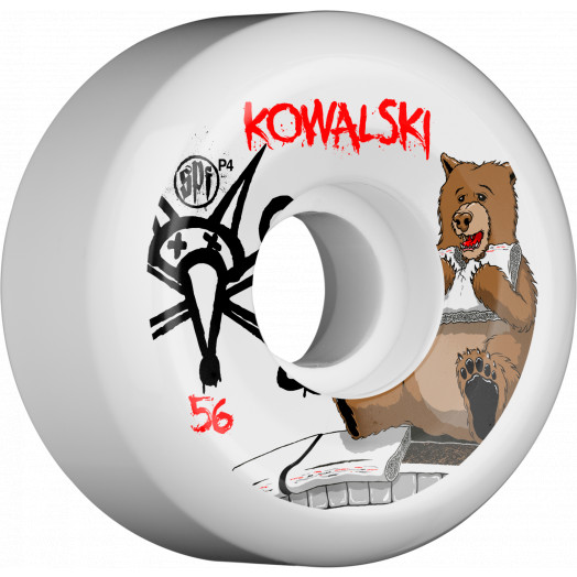 BONES WHEELS SPF Pro Kowalski Bear 56x32 P5 Skateboard Wheels 4pk