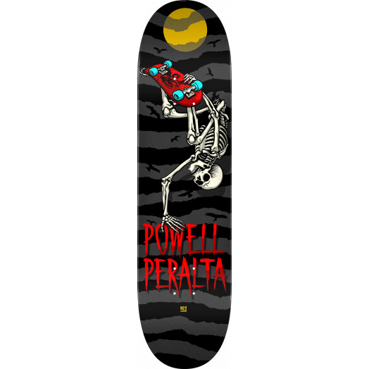 Powell Peralta Handplant Skelly Skateboard Deck Charcoal - 8 x 31.45