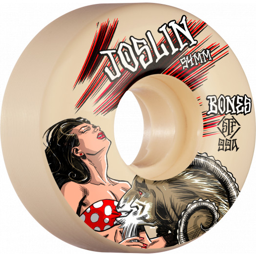 BONES WHEELS PRO STF Skateboard Wheels Joslin GOAT 54mm V3 Slims 99a 4pk