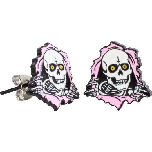 Powell Peralta Ripper Earrings Pink