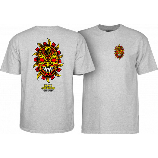 Powell Peralta Nicky Guerrero Mask T-Shirt Athletic Heather