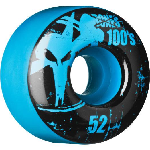 BONES WHEELS 100 Slims 52mm - Blue (4 pack)