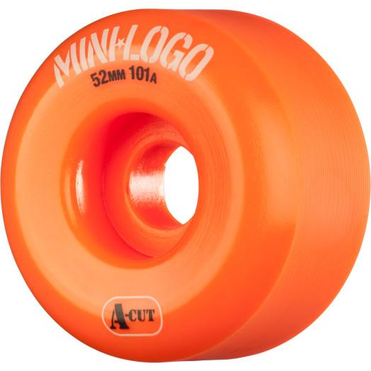 Mini Logo Skateboard Wheel A-cut 52mm 101A Orange 4pk