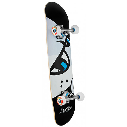 Angel Eyes Black 126 Complete Skateboard - 7.625 x 31.625
