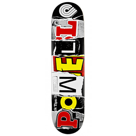 Powell Magazine Letters Red Skateboard Deck - 8 x 32.125