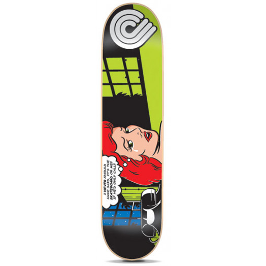 Powell Pop Art Skateboard Deck Green - 7.875 x 31.625